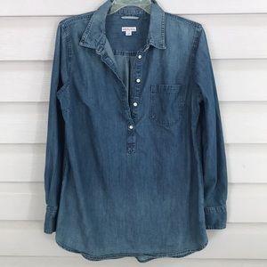 Merona Denim Cotton Shirt Size L